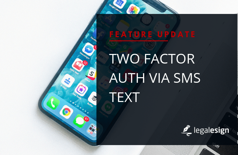 Two Factor Auth via SMS Text